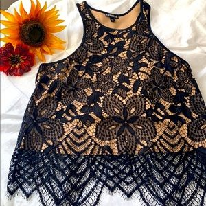 Express lace top 🌷